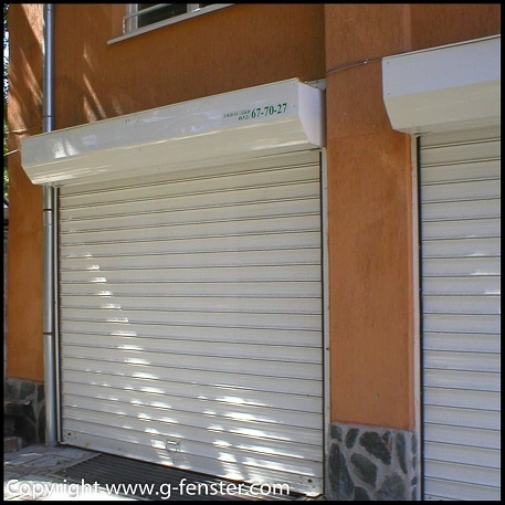 Security shutters with standard slats