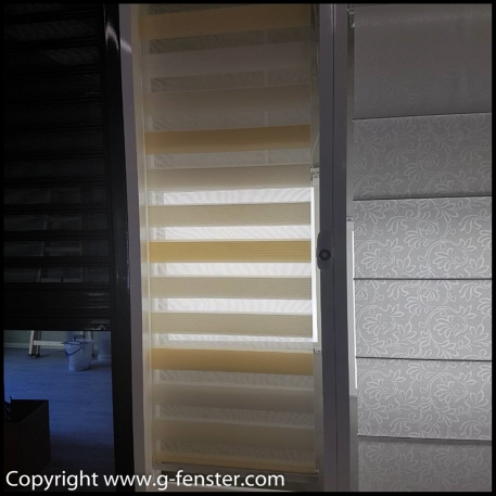 Double rollo blinds