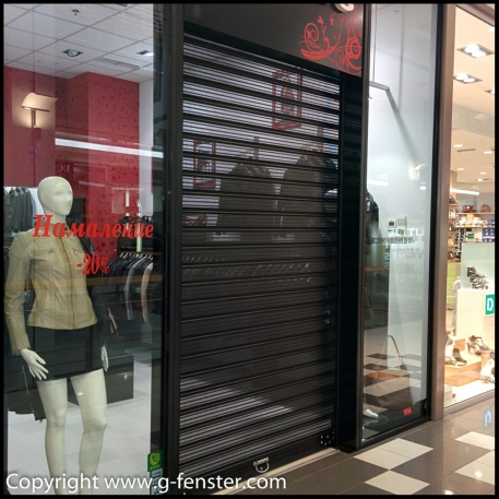 Roller shutter doors perforated