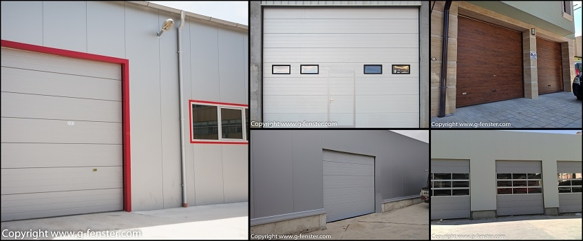 Sectional industrial doors