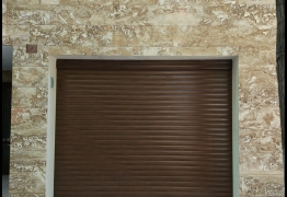 garage door walnut colour