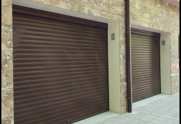 garage door colour walnut